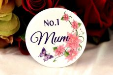 No.1 Mum Badge -5cm