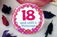 18th Birthday Princess Badge