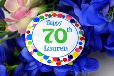 Personalised 70th Party Badge