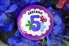 Personalised Butterfly Badge - Any Age