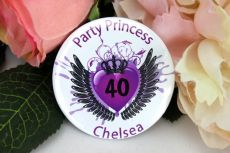 Party Princess Personalised 40th Badge