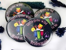 Girls Gone Wild Hens Night Bridal Party Badge