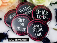 Hens Night Pink Heart Bridal Party Badge