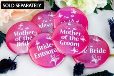 Hens Night Bridal Party Badge Butterfly