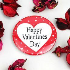 Happy Valentines Day Heart Badge