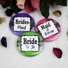 Bridal Shower Badge- Asst Colours