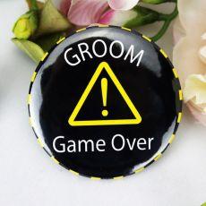 Groom Game Over Bucks Night Badge