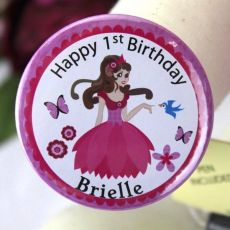 1st Birthday Personalised Princess Badge