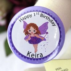 1st Birthday Fairy Party Badge - Personalised