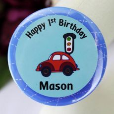 Personalised 1st Birthday Car Badge