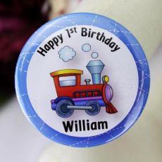 1st Birthday Personalised Train Badge