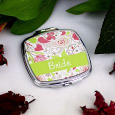 Bride Compact Mirror Gift - Paisley