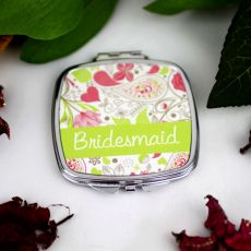 Bridesmaid Compact Mirror Gift  Paisley