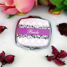 Bride Compact Mirror Gift - Filigree