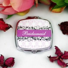 Bridesmaid Compact Mirror Gift  Filigree