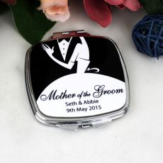Mother of the Groom Compact Mirror - Personalised
