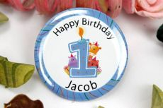 Personalised 1st Birthday Badge - Pink or Blue