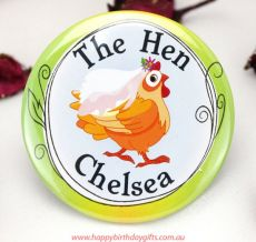 The Hen Bridal Badge - Personalised