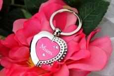 Mum Heart Keyring Gift