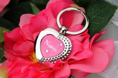 Nana Heart Keyring Assorted Colours