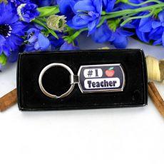 #1 Teacher Boxed Keyring