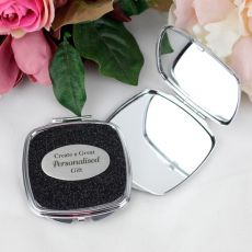 Personalised Glitter Compact Mirror