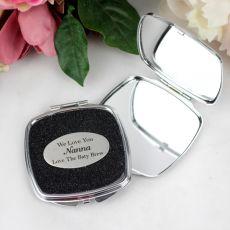 Nan Personalised Glitter Compact Mirror