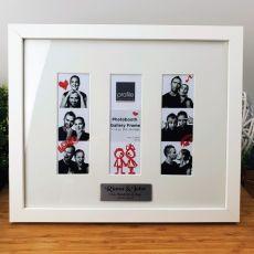 Personalised Wedding Triple Photobooth Frame