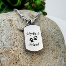 Dog Best Friend Memorial Urn Cremation Ash Necklace