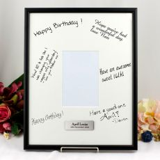 50th Birthday  Signature Frame Black / White 4x6 Photo