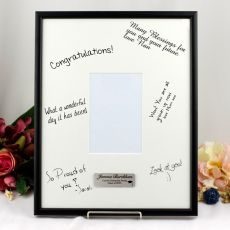 Personalised Graduation Signature Frame Black / White 4x6 Photo