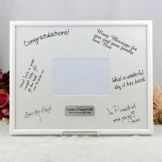 Personalised Birthday Signature Frame Black / White 4x6 Photo