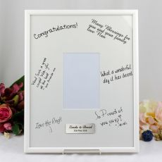 Personalised Engagement Signature Frame Black / White 4x6 Photo