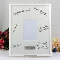 Personalised Coach Signature Frame Black / White 4x6 Photo