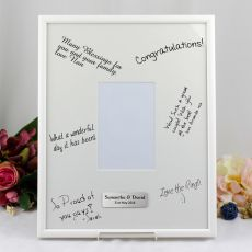 Personalised Wedding Signature Frame White/Black 4x6 Photo