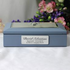 Baby Boy Baptism Personalised Keepsake Box
