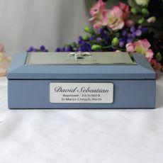 Baby Boy Baptism Personalised Keepsake Box