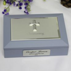 Baby Boy Christening Keepsake Memory Box