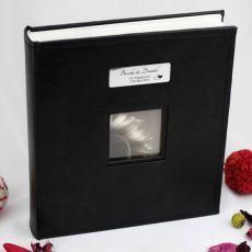 Engagement Personalised Photo Album Black 5x7 Photo
