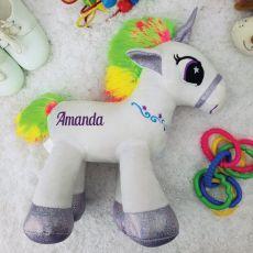 Personalised Plush Purple Unicorn