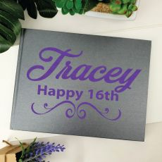 16th Birthday Guest Book Keepsake Album - A5-Grey