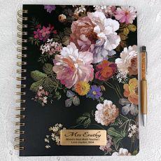2021 Teacher Weekly Planner Calendar Floral