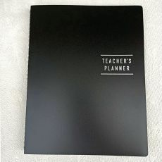 Teachers Planner Diary & Pen 144pages - Black