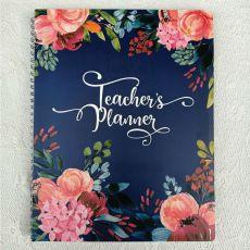 Teachers Planner  Diary & Pen 144pages - Floral