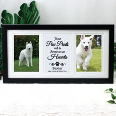 Pet Memorial Gallery Photo Frame 4x6 Typography Print Black