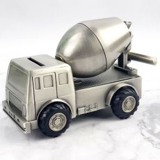 Cement Truck Pewter Money Box