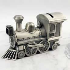 Baby Money Box Pewter Train