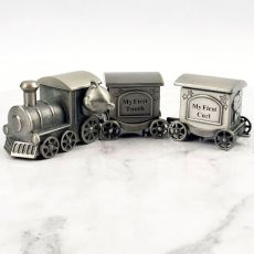 First Tooth & Curl Pewter Train Gift Set