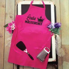 Personalised Apron Pink