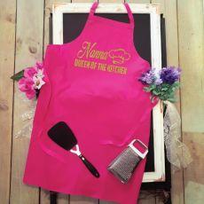 Nana Personalised Apron Pink